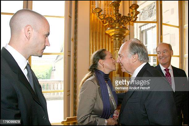 Rahim Aga Kahn Princess Zahra Aga Khan uncle Prince Amyn Aga Khan and father Prince Karim Aga Khan at Christine Albanel Presents The 'Grand Patron'...