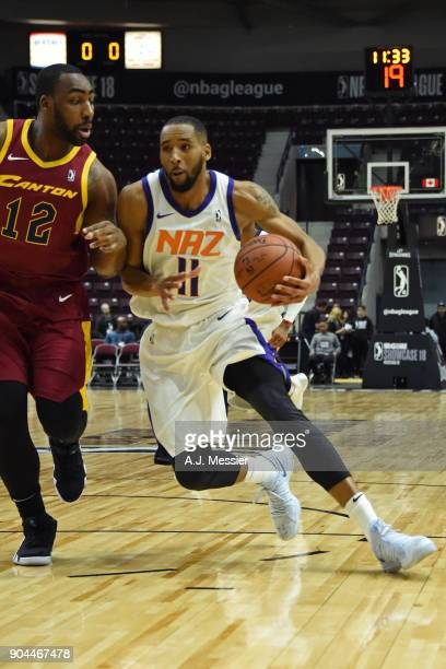 Rahlir HollisJefferson of the Northern Arizona Suns drives to the basket against the Canton Charge during the NBA GLeague Showcase on January 12 2018...