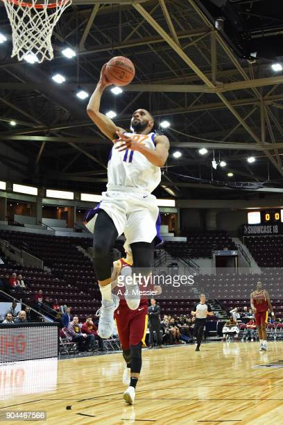 Rahlir HollisJefferson of the Northern Arizona Suns dunks the ball against the Canton Charge during the NBA GLeague Showcase on January 12 2018 at...