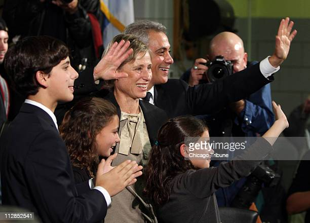 Rahm Emanuel formerly launches his campaign in the Chicago mayoral race during a rally at John C Coonley School in Chicago Illinois Saturday November...