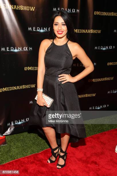Rahma Riad attends the International SciFi Series 'Medinah' premiere and red carpet reception at ComicCon International 2017 at The Manchester Grand...