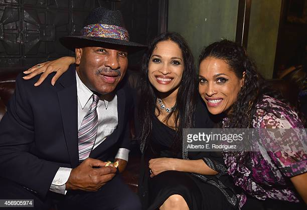 Rahman Ali Jamillah AliJoyce and Rasheda AliWalsh attend the after party for the Los Angeles premiere of Focus World's I Am Ali at The Sayers Club on...
