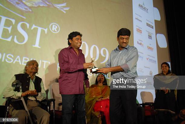 R Rahman being felecitated after he inaugurated ' ABILITYFEST 2009 ' India International Disability Film Festival under the distinguished presence of...