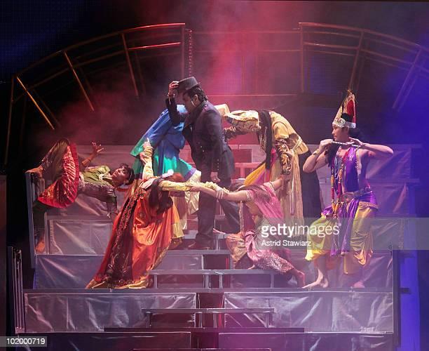 AR Rahman performs during the opening night of the AR Rahman Jai Ho Concert The Journey Home World Tour at Nassau Veterans Memorial Coliseum on June...