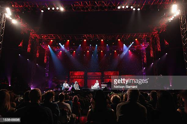 R Rahman performs onstage at the One World Concert at Syracuse University on October 9 2012 in Syracuse New York