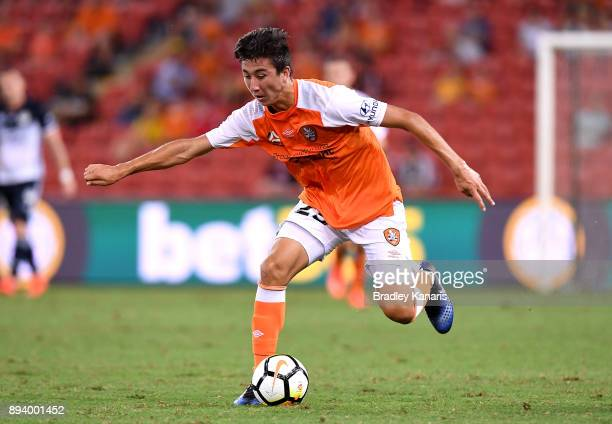 Rahmat Akbari of the Roar in action during the round 11 ALeague match between the Brisbane Roar and the Melbourne Victory at Suncorp Stadium on...
