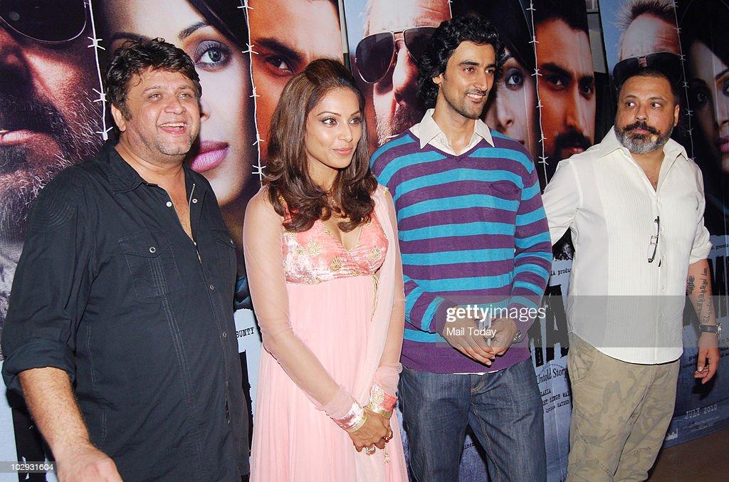 Rahul Dholakia Bipasha Basu Kunal Kapoor and Bunty Walia at the screening of the film Lamhaa in Mumbai on July 15 2010