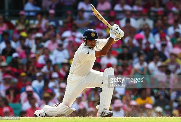 Rahul Dravid of India bats during day three of the Second Test Match between Australia and India at Sydney Cricket Ground on January 5 2012 in Sydney...