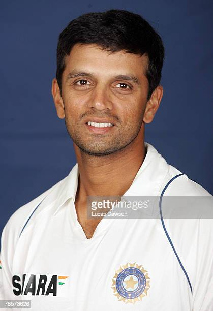 Rahul Dravid of India poses during the Indian cricket team portrait session at the Melbourne Cricket Ground on December 19 2007 in Melbourne Australia
