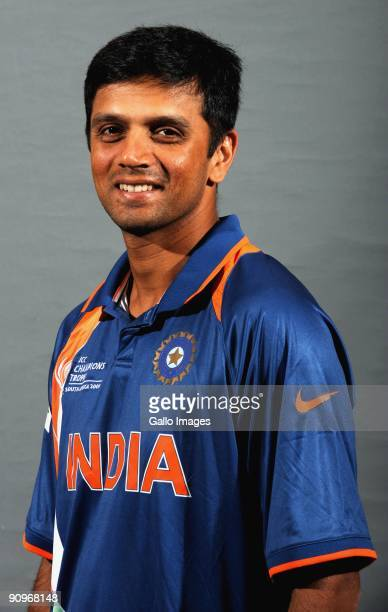 Rahul Dravid poses during the ICC Champions photocall session of the Indian cricket team at Sandton Sun on September 19 2009 in Sandton South Africa