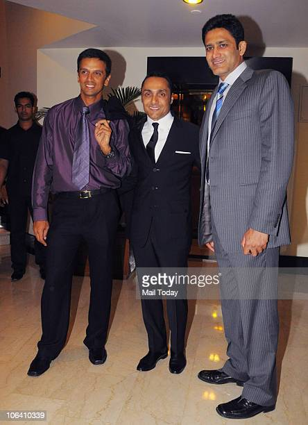 Rahul Dravid Rahul Bose and Anil Kumble at 'Auction For Equality' event organised by the actor in Mumbai on October 29 2010