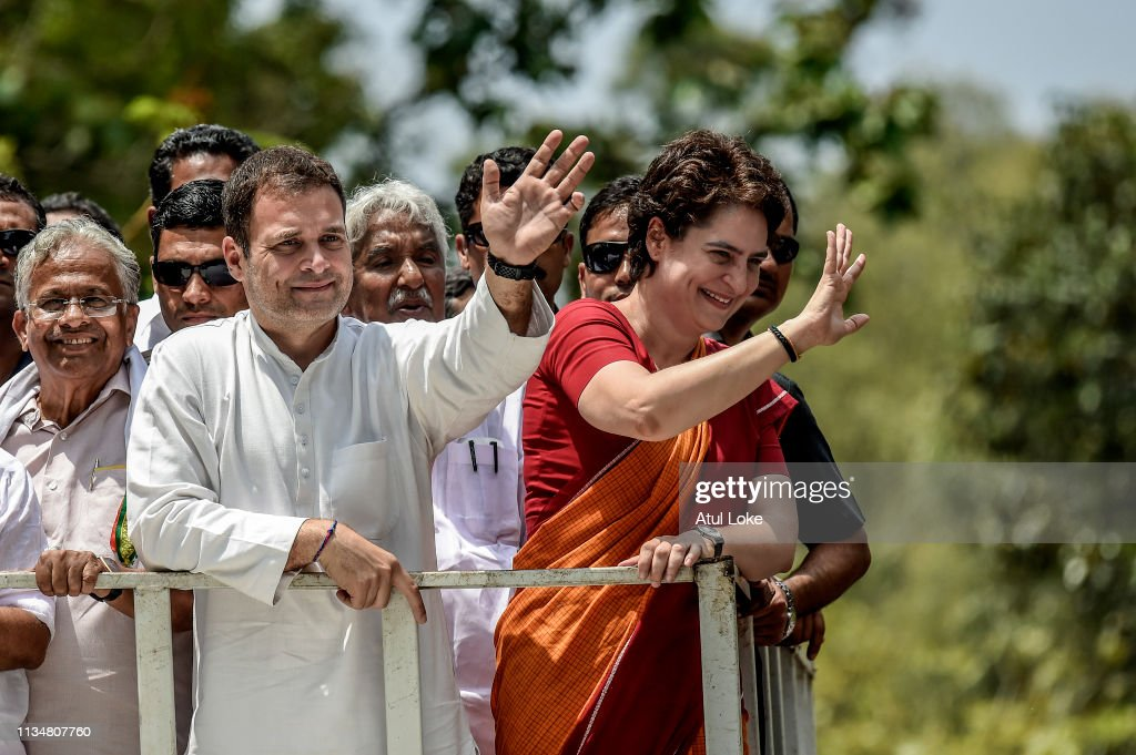 Rahul Gandhi Campaigns Before India's General Election : News Photo