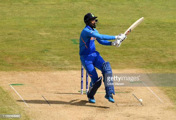 Rahul of India in action batting during the Group Stage match of the ICC Cricket World Cup 2019 between Bangladesh and India at Edgbaston on July 02,...