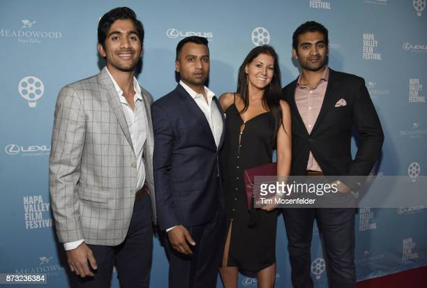 Rahul Wdaru Keerthan Reddy Jennifer Wilde and Abishek Reddy attend the Festival Gala at CIA at Copia during ithe 7th Annual Napa Valley Film Festival...