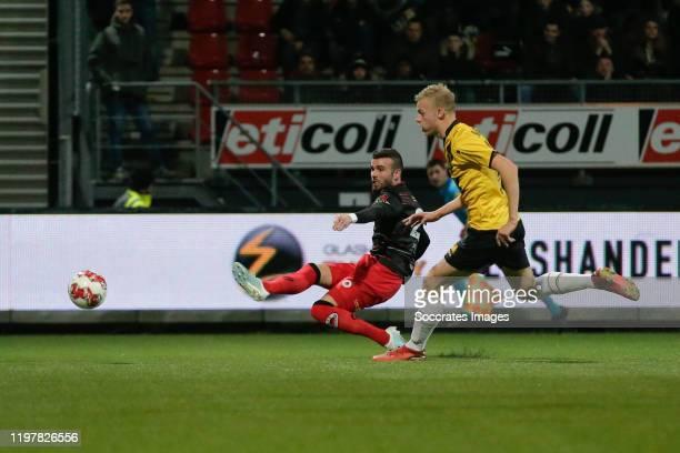 Rai Vloet of Excelsior Rotterdam, 1-0, Jan Paul van Hecke of NAC Breda during the Dutch Keuken Kampioen Divisie match between Excelsior v NAC Breda...
