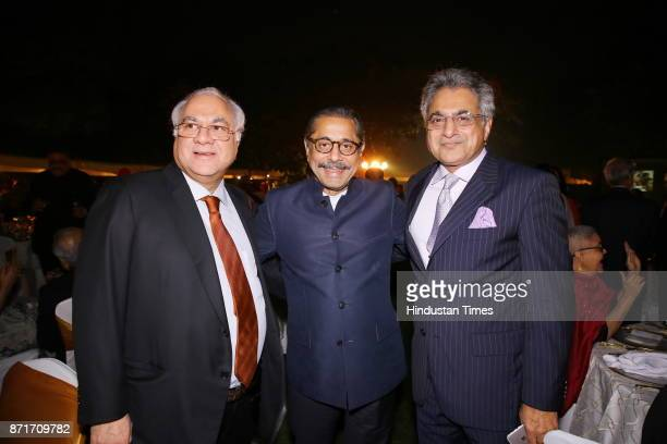Raian Karanjwala and Naresh Trehan during the fundraiser for Lepra India Trust at the residence of the British High Commissioner Sir Dominic Asquith...
