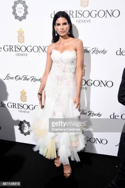 Raica Oliveira attends DeGrisogono 'Love On The Rocks' during the 70th annual Cannes Film Festival at Hotel du CapEdenRoc on May 23 2017 in Cap...