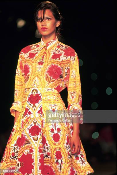 Raica Oliveira during 2001 Sao Paulo Fashion Week Lino Villaventura at Bienal Ibirapuera in Sao Paulo Sao Paulo Brazil