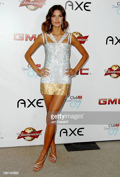 Raica Oliveira during 2007 Sports Illustrated Swimsuit Issue Party at Pacific Design Center in Los Angeles California United States