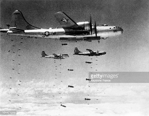 Raid Aerien De B29 Superfortress Pendant La Seconde Guerre Mondiale