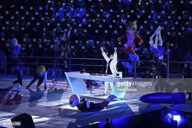 Raiden performs during the Closing Ceremony of the PyeongChang 2018 Winter Olympic Games at PyeongChang Olympic Stadium on February 25 2018 in...