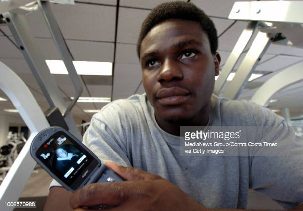 Raiders linebacker Isaiah Ekejiuba keeps a picture of his late mother Felicia on his cellphone She was a member of the United Nations who worked on...