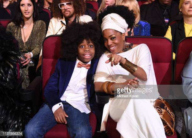 RaifHenok Emmanuel Kendrick and Rhonda Ross Kendrick attend Motown 60 A GRAMMY Celebration at Microsoft Theater on February 12 2019 in Los Angeles...