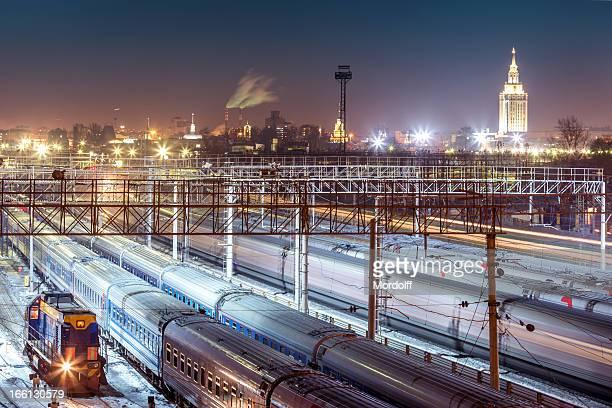 l'accesso ferroviario di linea di grandi - mosca russia foto e immagini stock
