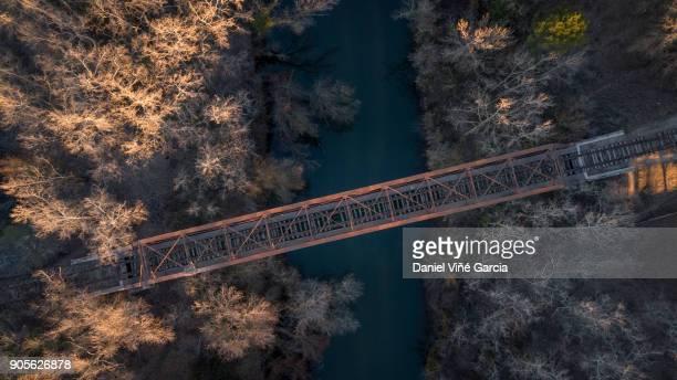 Rail bridge over river