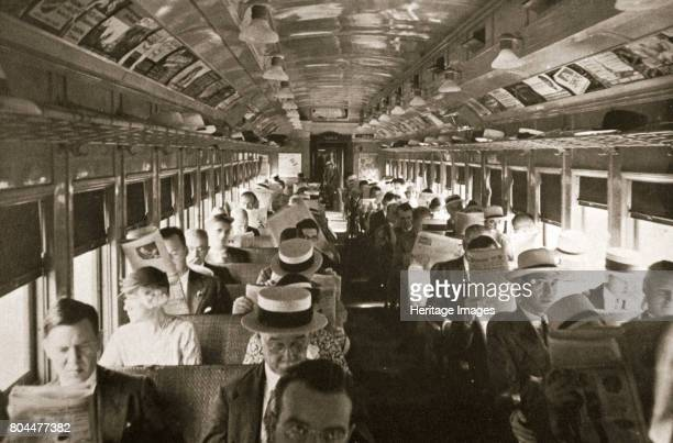 Rail commuters New York USA c1920sc1930s