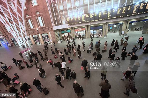 Rail disruptions across the UK left many train stations empty as services were delayed or cancelled. Kings Cross one of the busiest stations was...