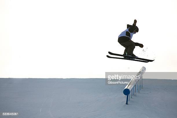 Rail Grind Skier