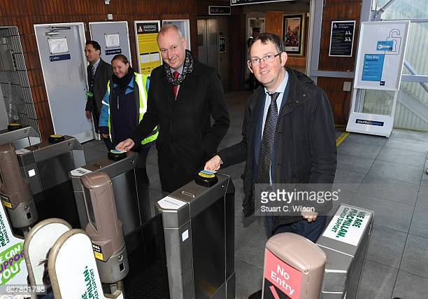 Rail Minister Paul Maynard and Southeastern Managing Director David Statham Launch Southeastern's new smart card called 'The Key' on December 5 2016...