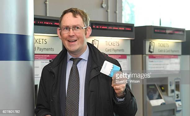 Rail Minister Paul Maynard Launches Southeastern's new smart card called 'The Key' on December 5 2016 in Sevenoaks England Southeastern passengers...