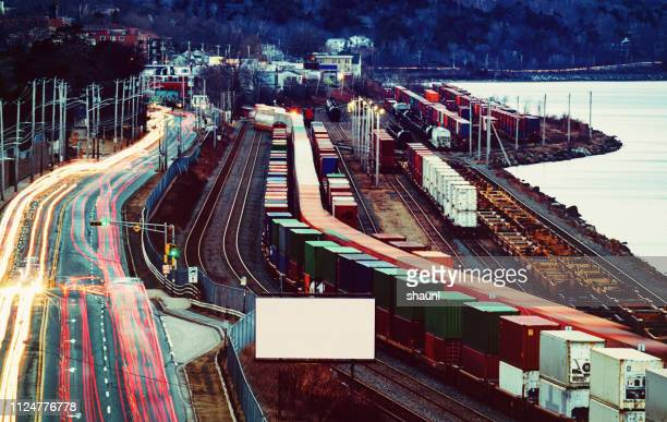 rail & road traffic - rail transportation stock pictures, royalty-free photos & images