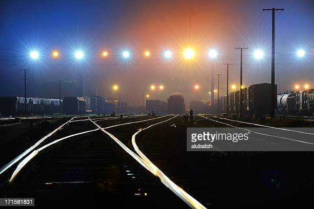 rail terminal - shunting yard stock photos and pictures