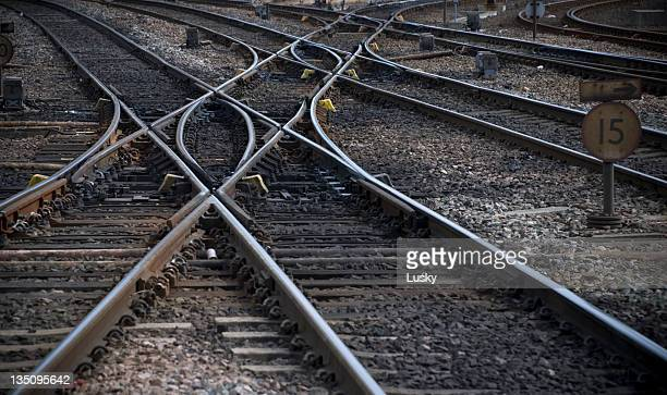 Rail track cross roads