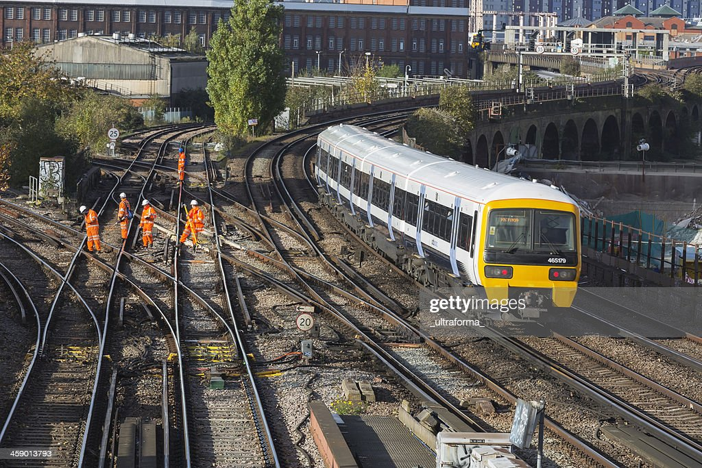 Rail track maintenance : Stock Photo