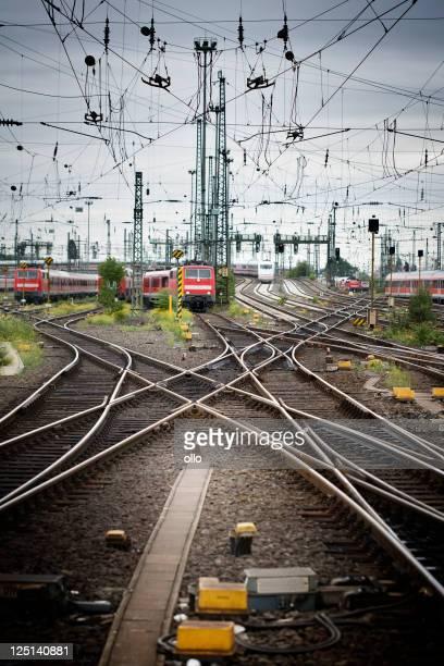 Rails, titres et des trains