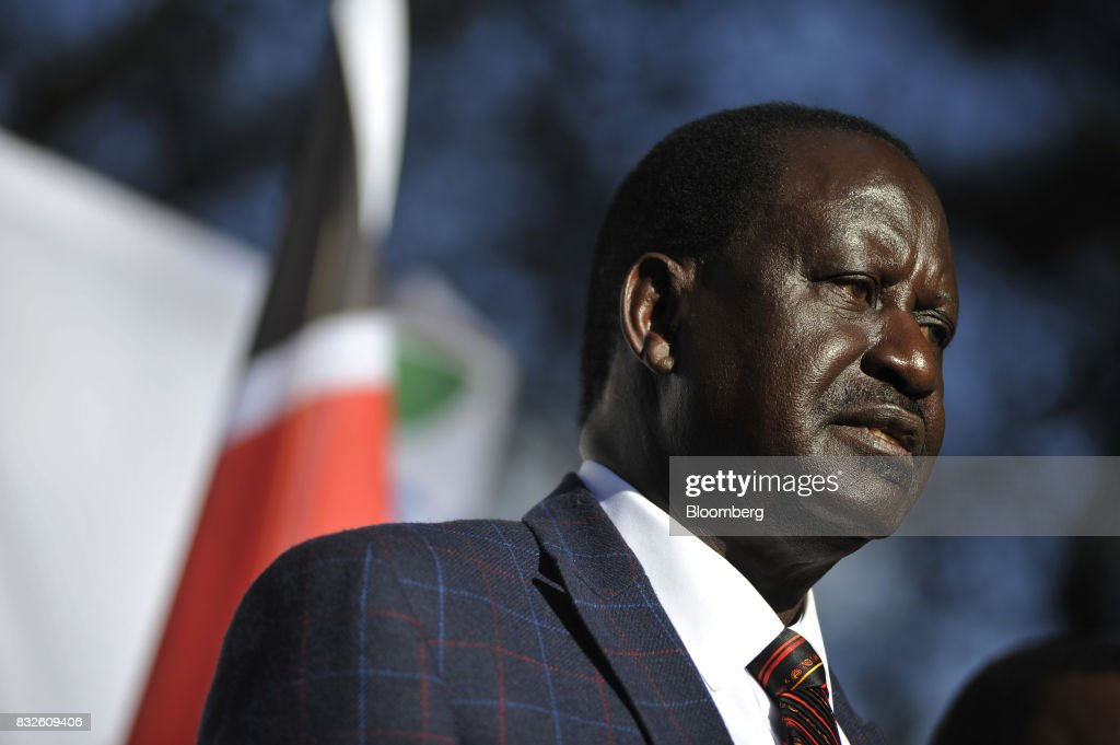 Kenyan Opposition Leader Raila Odinga As Authorities Step Up Bid To Quell Vote Dispute