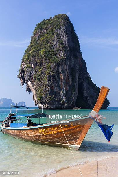 Railay also spelled Rai Leh, is a peninsula between the city of Krabi and Ao Nang Beach. It is accessible only by boat because of limestone cliffs...