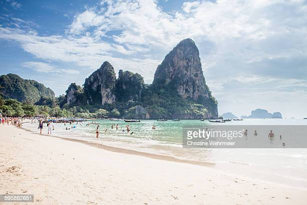 railay beach - christine wehrmeier stock pictures, royalty-free photos & images