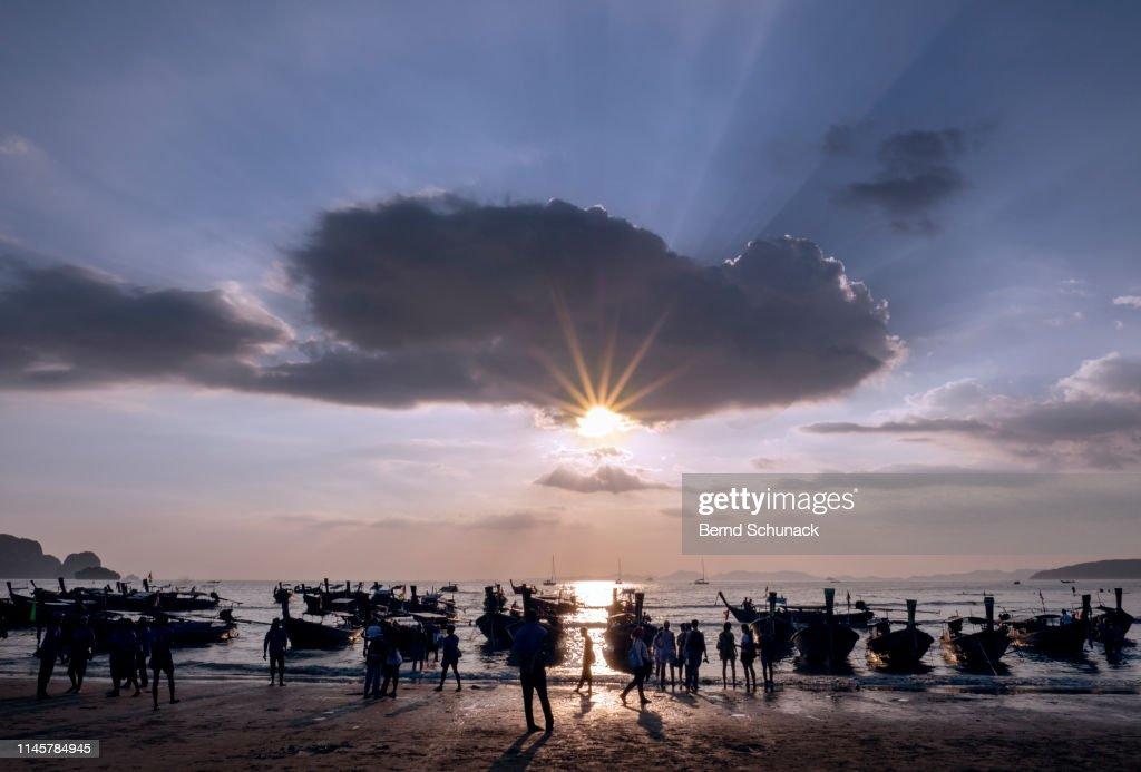 Railay Beach Sunset : Stock-Foto