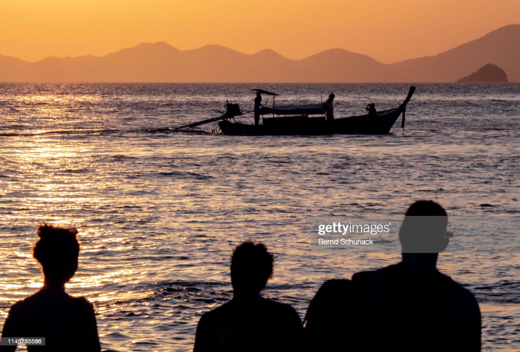 Railay Beach Sunset : Stock Photo