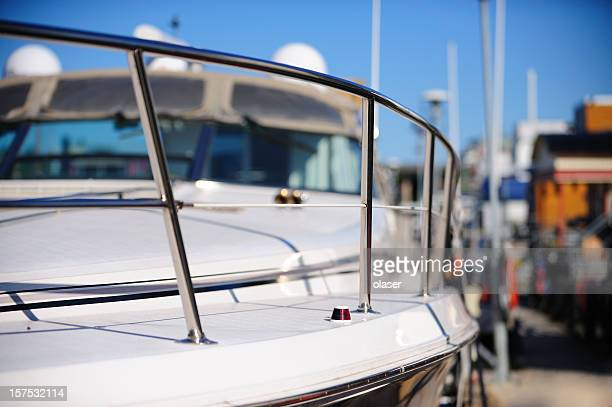 Railing of motorboat