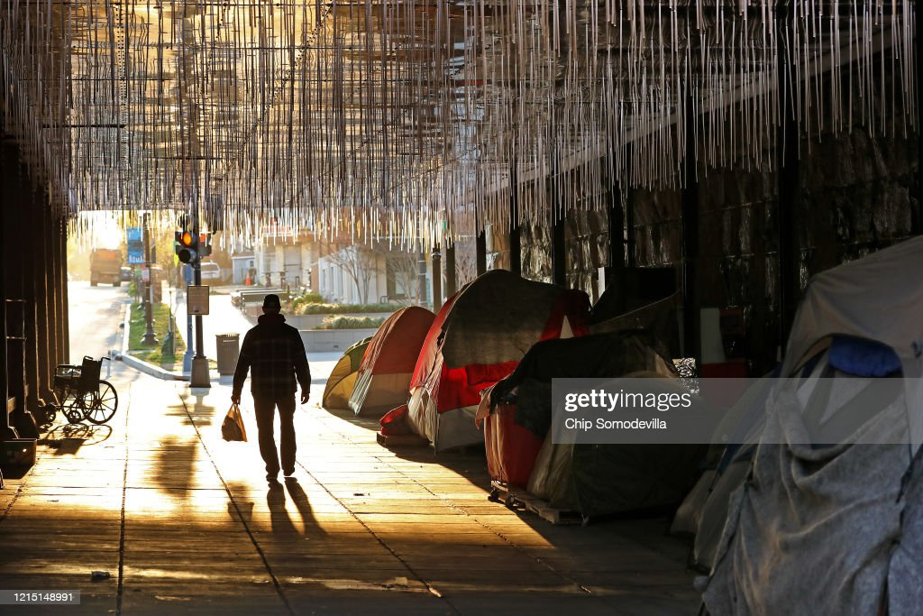 D.C.'s Homeless Population Greatly Susceptible To Coronavirus Spread : News Photo