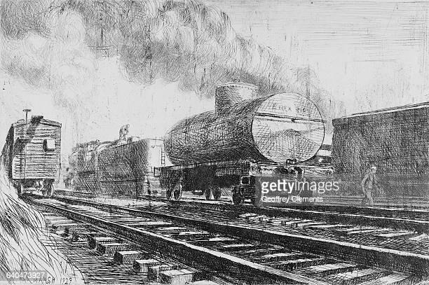 Railroad Cars by Reginald Marsh