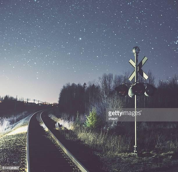 Railroad Crossing in the Stars