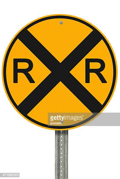 "railroad crossing. part of our ""create a sign"" series. - railroad crossing stock pictures, royalty-free photos & images"