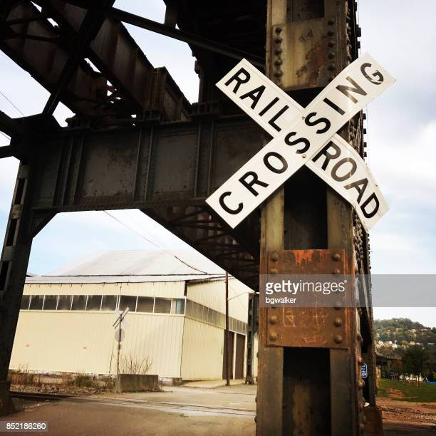 Railroad Crossing Sign in Pittsburgh